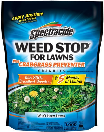Spectracide Weed Stop For Lawns + Crabgrass Preventer Granules,10.8 lb