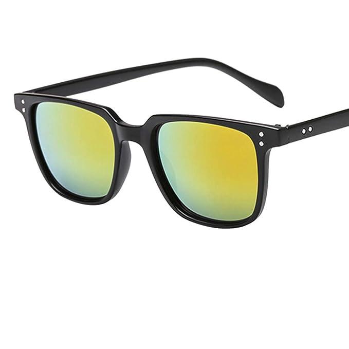 cdcf20e266 Mymyguoe Gafas de Sol Vintage para Hombre Retro Gafas de protección de la  radiación de la