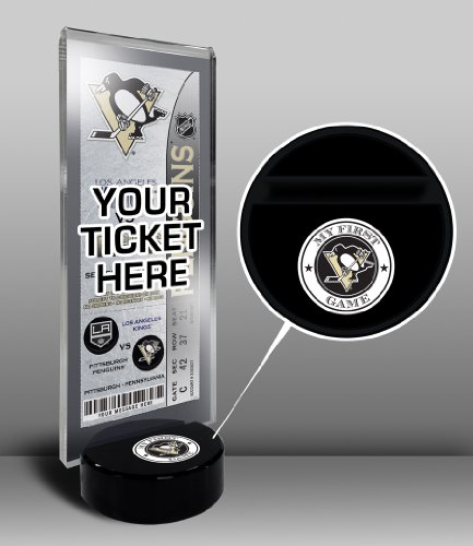 NHL Pittsburgh Penguins My First Game Hockey Puck Ticket Stand, One Size, ()