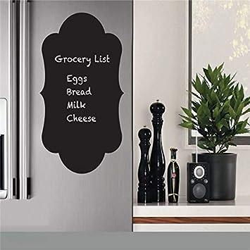 T08094 etiqueta engomada del refrigerador ecológico venta al por mayor calcomanías de vinilo etiqueta de la pizarra, tablero de tiza pegatinas de pared cocina decoración del 30 * 50cm