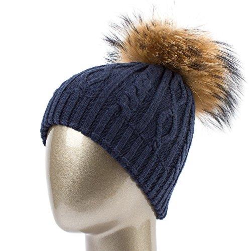 QETUOAD Winter Knitted damen Hats Natural Caps Female Warm Hat Double Layer Thick Beanies for Girls Gs136 B07D76NBKN Bekleidung Saisonaler heißer Verkauf