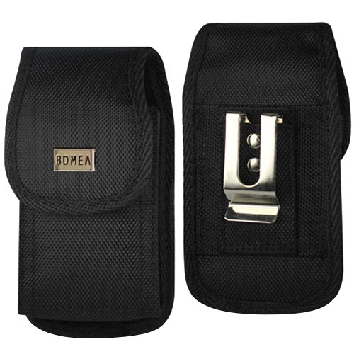 Bomea iPhone Xs Holster, iPhone X Belt Clip Case, Rugged Tactical Cell Phone Belt Holster Case with Belt Clip Carrier Pouch for Apple iPhone X/iPhone XS (Fits Phone w/Case on) Black