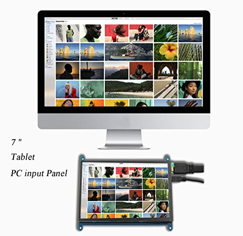 Juvtmall HDMI Display Monitor 7 inch 1024x600 HD Touch Screen TFT LCD Model with Touch Function for Raspberry Pi B+/2B Raspberry Pi 3,Banana Pi/Pro,Beagle Bone Windows 7/8/10 … by Juvtmall (Image #1)