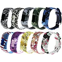 Large Bands For Vivofit 3/Vivofit jr/Vivofit jr 2 Replacement Band,RuenTech Soft Silicone Adjustable Printing Patterns Wristbands Strap For Garmin Vivofit jr 2/Vivofit jr/Vivofit 3