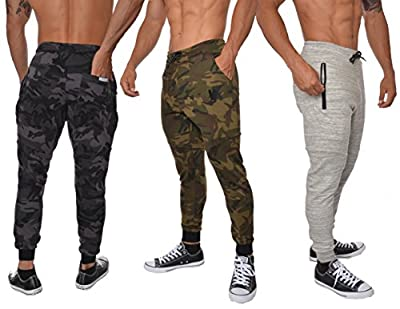 YoungLA Slim Fit Joggers for Men | French Terry Cotton Skinny Tapered Sweatpants | Gym Sports Activewear Workout Clothes 202