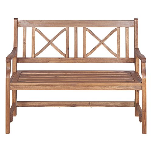 We Furniture 48 Acacia Wood Folding Bench Brown