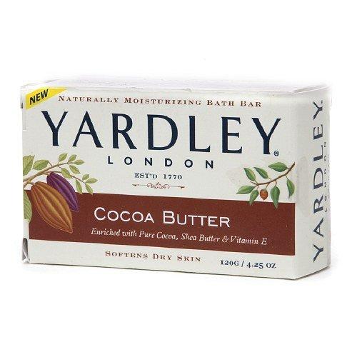 Yardley of London Naturally Moisturizing Bath Bar Soap, - Yardley Cocoa Butter Soap