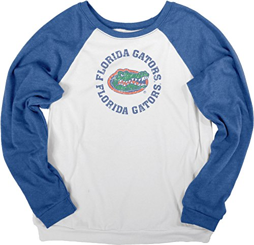 - NCAA Florida Gators Women's Cozy Fleece Crew Shirt, Large, White/Royal