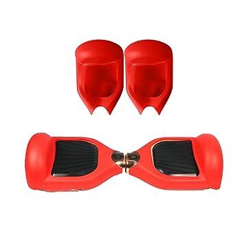 QUMAO 360° Protector Funda 2 Ruedas 6.5 Pulgadas Cubierta Carcasa de Silicona para Smart Scooter Balance Patinete Electrico Dos Ruedas - Rojo: Amazon.es: ...