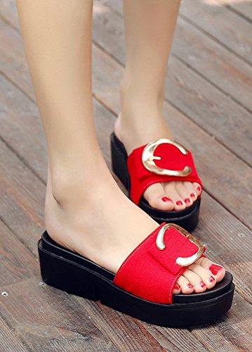 M Femme Plates Ornement Confort Aisun Chaussures zX4xOwqn