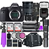 Canon EOS 6D 20.2 MP Full-Frame CMOS Digital SLR Camera with Canon EF 24-105mm f/3.5-5.6 IS STM Lens + Tamron Zoom 70-300mm f/4-5.6 Autofocus + Canon EF 50mm f/1.8 STM Lens + Accessory Bundle