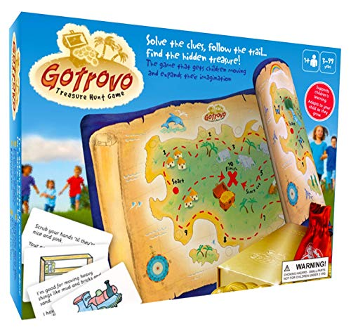 Gotrovo Treasure Hunt Game - Fun Scavenger Hunt for Kids of All Ages - Versatile Indoor, Outdoor, Camping, Party Game - Play at Home, in The Garden Or Anywhere - Bonus Childrens Parties Ideas eBook -