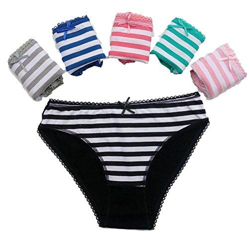 5pcs/lot Women's Cotton Panties Girl Bikini Underwear Sexy Ladies Briefs,3,XL
