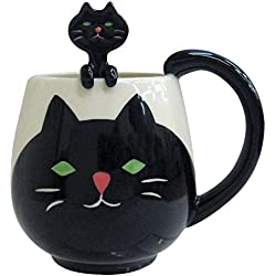 Decole Cat Mug and Spoon, 12 oz.