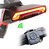Smart Bicycle Tail Light with Turn Signals, Wireless USB Rear Light Flashlight with 2 Laser Beams for Cycling Biking MTB BMX Bike, Rechargeable LED Turning Indicator Light, 85cd