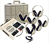 Califone CAS5272PLC 6-Position Deluxe Listening Center: Includes: Deluxe CAS5272 Cassette Player/Recorder, Six 2924AVP Monaural headphones and Rugged Polypropylene Carry/Storage case