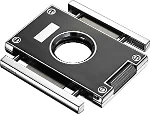 """Visol VCUT30003 """"Sharp"""" Lacquered Cigar Cutter, Chrome Plated, Black"""