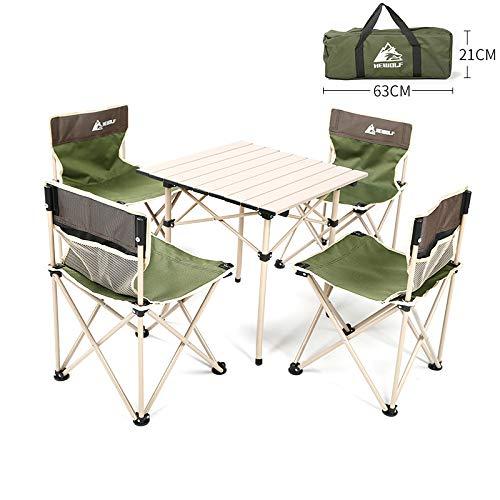 EmmmE Mesa Plegable al Aire Libre y Juego de sillas, Mesa de ...