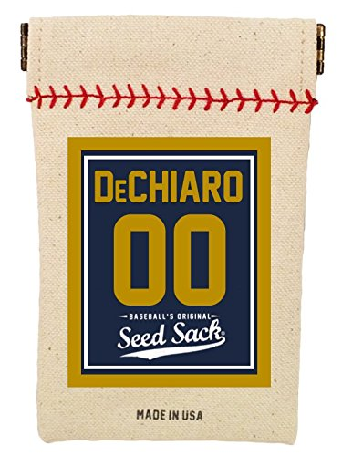 - Baseball's Customized Seed Sack (Navy/Gold) for Sunflower Seeds (Includes 6 Ounces of Seeds) Fits in Your Back Pocket. Take it on The Field.