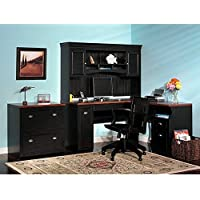 Amazoncom Table and Hutch  Home Office Furniture Sets  Home