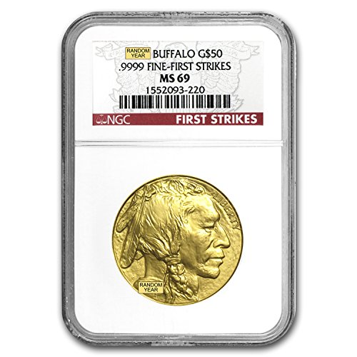 2006 - Present 1 oz Gold Buffalo MS-69 NGC (Random Year) 1 OZ MS-69 NGC