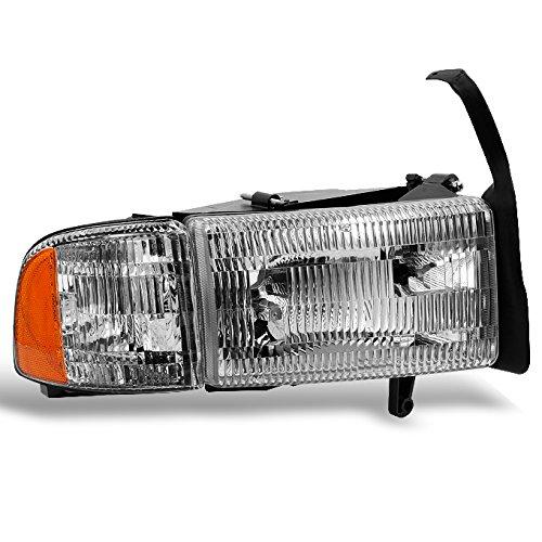 For 1994-2002 Dodge Ram 1500 | 2500 | 3500 Pickup Truck Passenger Right Side Headlight Headlamp w/Corner