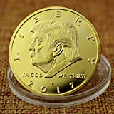 Donald Trump Gold Coin 2017, Gold Plated Collectable Coin, 45th President, 24kt Gold Plated Commemorative Medallion