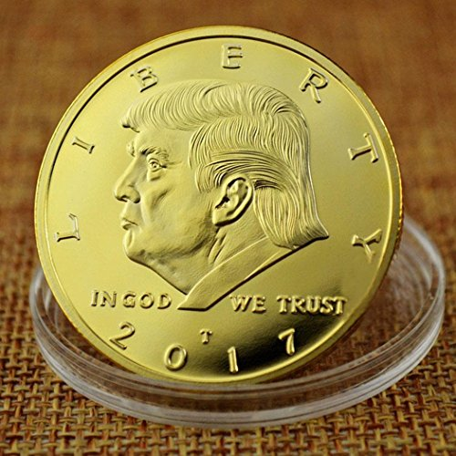 Donald Trump Gold Coin 2017, Gold Plated Collectable Coin, 45th President, 24kt Gold Plated Commemorative Medallion by Bulges