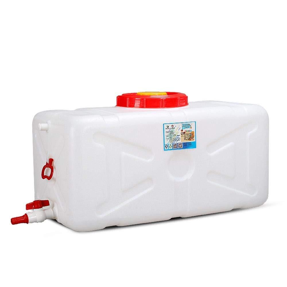 水容器の大きい容量のカバーおよび蛇口100L 200L 300Lが付いているキャンプの正方形の水貯蔵タンク水Tankの白のために横の携帯用長方形のプラスチックバケツ (Size : 300L)  300L