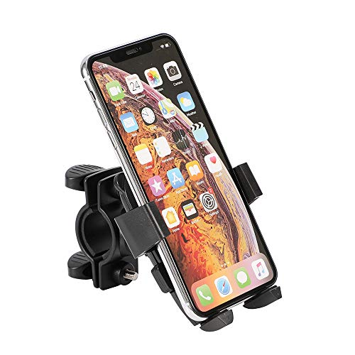 Malu1 Cell Phone Bicycle Holder,Bike Phone Mount,Universal Anti Shake Bicycle Phone Holder,Motorcycle Handlebar Mount with 360° Rotation for Cellphone