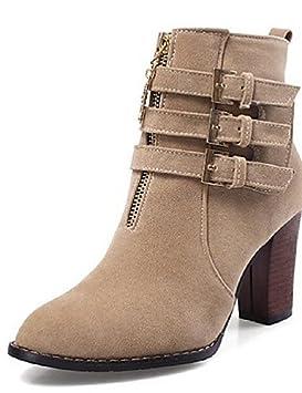 XZZ/ Zapatos de mujer - Tacón Robusto - Botas a la Moda - Botas -