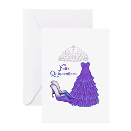 Amazon cafepress quinceanera purple greeting card note cafepress quinceanera purple greeting card note card birthday card blank inside m4hsunfo