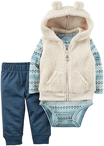 Carters Baby Boys 3 Piece Hooded