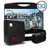 FunAce In-Ground 1 Dog Containment Fence Heavy Duty System with Rechargeable & Adjustable Shock-Level Receiver Collar, Extra Thick 0.8mm 20 Gauge Wire, Built-in Lightning Protection with Fuse