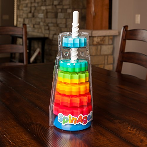 51BlCGSMzSL - Fat Brain Toys Kids Spinagain Toy