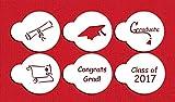 Designer Stencils C207 Graduate Cupcake and Cookie Stencils (Small), Congrats Grad! - Graduation Cap - Congratulations - Diploma - Scroll - Class of 2016, Beige/semi-transparent