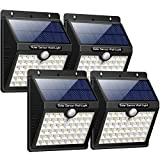 Solar Lights Outdoor, iPosible Upgraded 46 LED Solar Powered Lights Motion Sensor 1800 mAh LED Wireless Waterproof Security Wall Lights Outside Solar Lamp with 3 Modes for Garden, Fence, Patio, Yard, Walkway, Driveway, Stairs [ 4 Pack ]