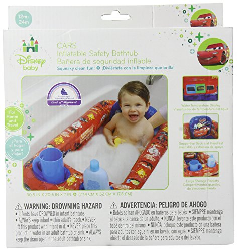 Disney Cars Inflatable Safety Bathtub, (Disney Cars Bath)