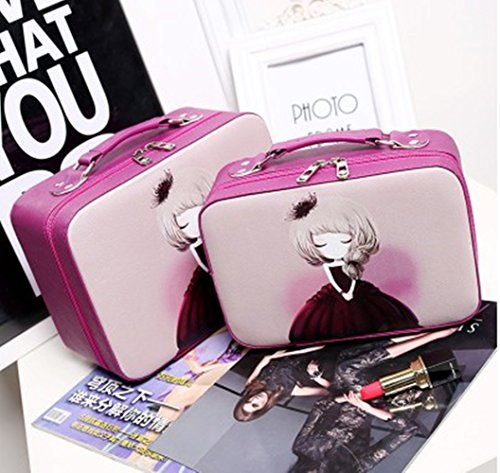 Cosmetic bag to receive bag portable portable lovely wash...