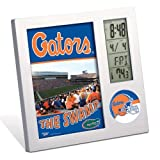 WinCraft NCAA WCR2516011 University of Florida Desk Clock, Black