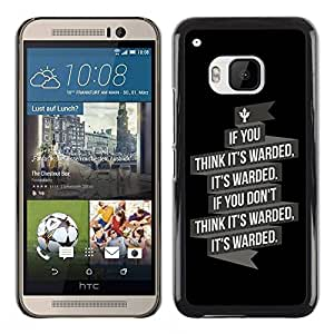 Paccase / SLIM PC / Aliminium Casa Carcasa Funda Case Cover para - It's Warded - HTC One M9