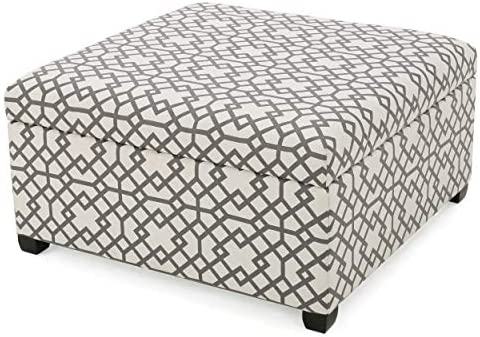 Christopher Knight Home Tempe Fabric Storage Ottoman
