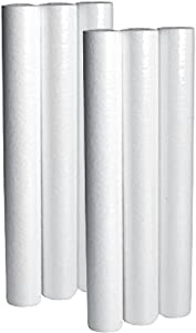 """LifeSource Water Systems - 5 Micron Home Sediment Water Filter Cartridges - Replacement Cartridges - 20"""" Height x 2.5"""" Width (6 Pack)"""