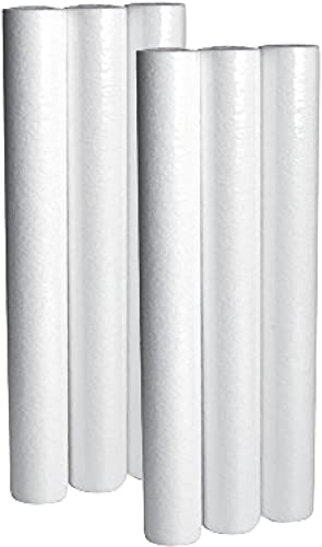LifeSource Water Systems – 5 Micron Home Sediment Water Filter Cartridges – Replacement Cartridges – 20 Height x 2.5 Width 6 Pack