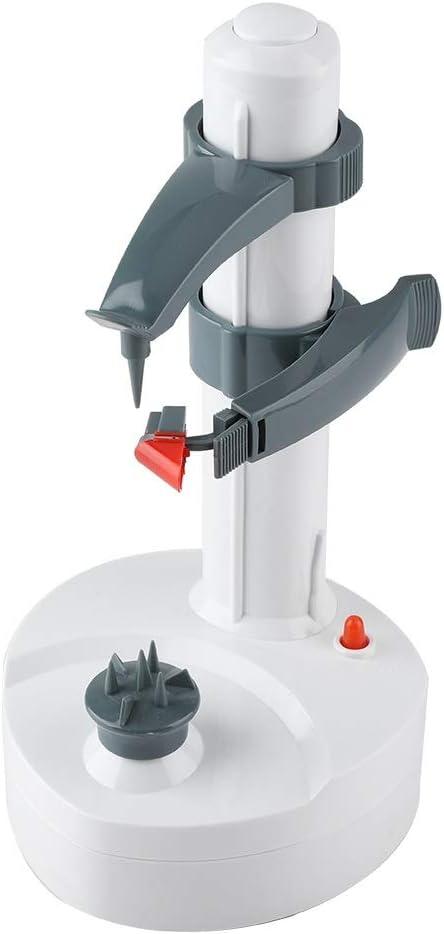 Delaman Electric Peeler, Pelador Automático de Frutas y Verduras, Funciona con Pilas, Máquina de Pelar Vegetales con Peras y Manzanas