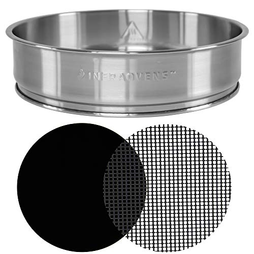 Extender Ring Compatible with NuWave Oven Pro Plus & NuWave Oven Elite - 3 inch Stainless Steel Increases 50% Capacity of your Oven - Bundles w/Cooking & Baking Accessories by INFRAOVENS (Part Dome Replacement Nuwave)