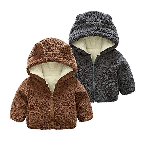 Chaquetas Bebé, ❤ Amlaiworld Abrigo de bebé niños niñas recién Nacidos Capa Chaqueta Gruesa Ropa de Abrigo Abrigos con Capucha de otoño Bordado Outwear: ...