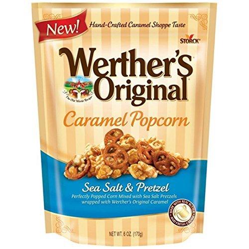 Werthers Original Sea Salt Popcorn, Caramel and Pretzel, 6 Ounce (Pack of 3)