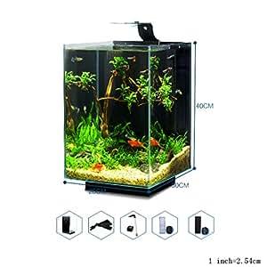 Fish Tank, Aquarium Small Desktop Home Living Room Pequeño Tanque de ...