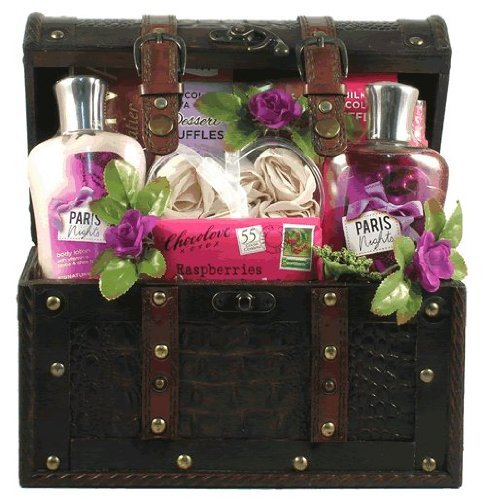 Gift Basket Village Paris Nights Spa and Chocolate Gift Basket